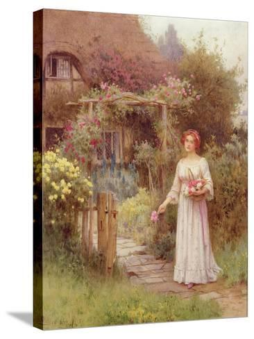 At the Garden Gate-William Affleck-Stretched Canvas Print