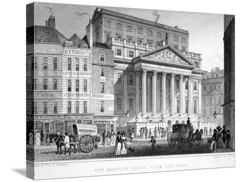 The Mansion House-Thomas Hosmer Shepherd-Stretched Canvas Print