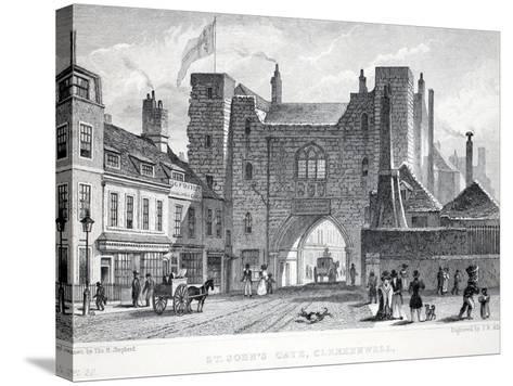 St Johns Gate-Thomas Hosmer Shepherd-Stretched Canvas Print