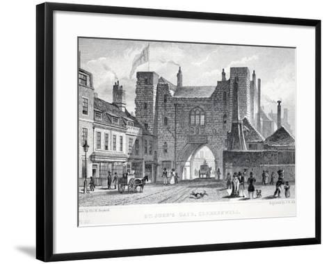 St Johns Gate-Thomas Hosmer Shepherd-Framed Art Print
