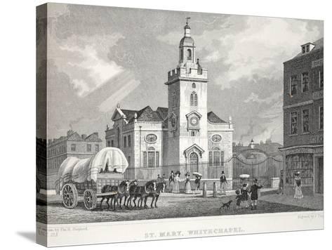 Church of St Mary-Thomas Hosmer Shepherd-Stretched Canvas Print