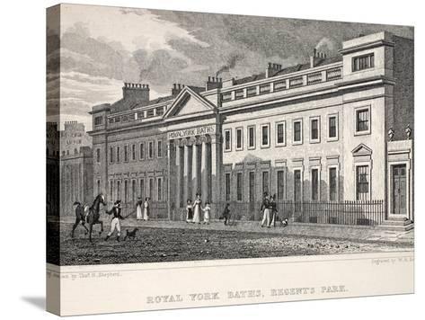 Royal York Baths-Thomas Hosmer Shepherd-Stretched Canvas Print