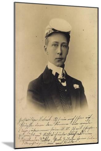 Kronprinz Friedrich Wilhelm Victor August Ernst--Mounted Giclee Print
