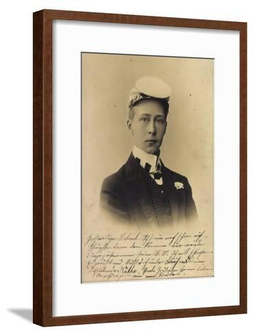 Kronprinz Friedrich Wilhelm Victor August Ernst--Framed Art Print
