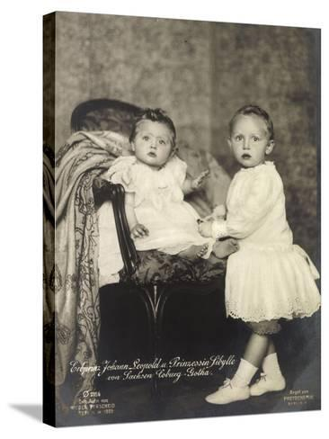 Erbprinz Johann Leopold, Prinzessin Sibylle, Coburg--Stretched Canvas Print