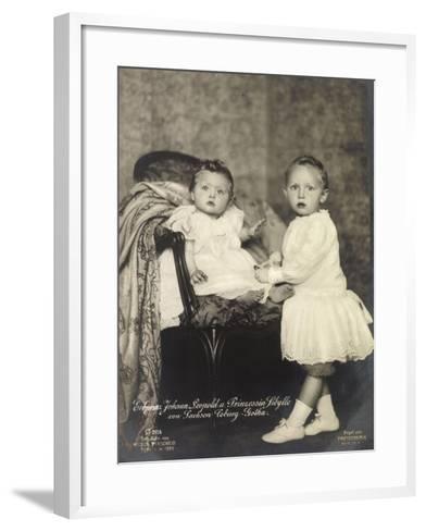 Erbprinz Johann Leopold, Prinzessin Sibylle, Coburg--Framed Art Print
