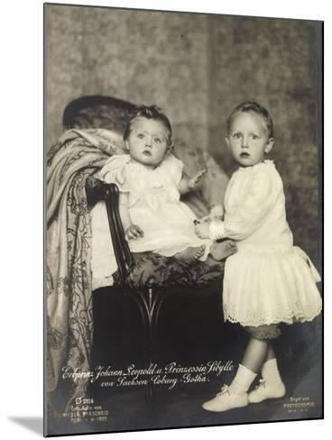 Erbprinz Johann Leopold, Prinzessin Sibylle, Coburg--Mounted Giclee Print