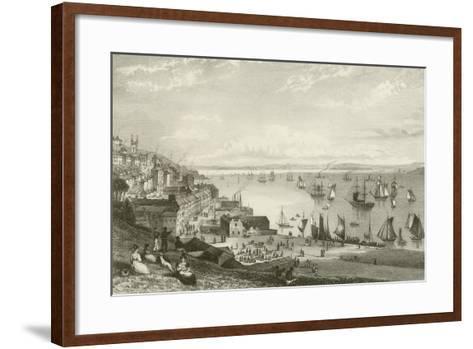 Queenstown Harbour-William Henry Bartlett-Framed Art Print