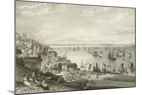 Queenstown Harbour-William Henry Bartlett-Mounted Giclee Print