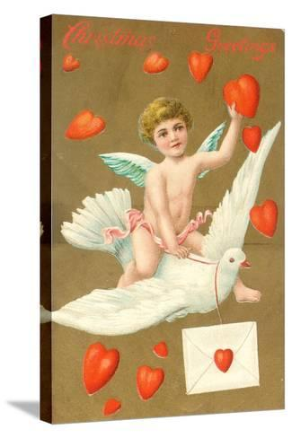 Christmas Greetings, Postcard, C.1910--Stretched Canvas Print