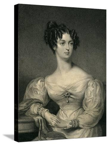 The Hon. Lady John Thynne, 1830--Stretched Canvas Print