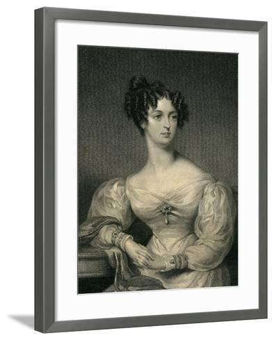 The Hon. Lady John Thynne, 1830--Framed Art Print