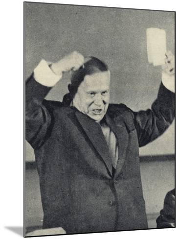 Nikita Khrushchev--Mounted Photographic Print
