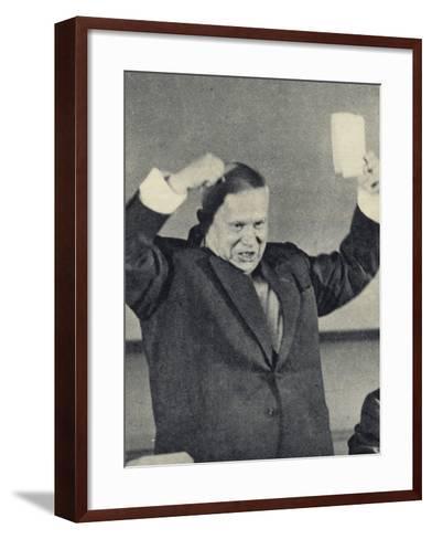Nikita Khrushchev--Framed Art Print