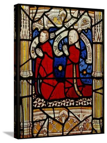 Window N4 Depicting Donors--Stretched Canvas Print