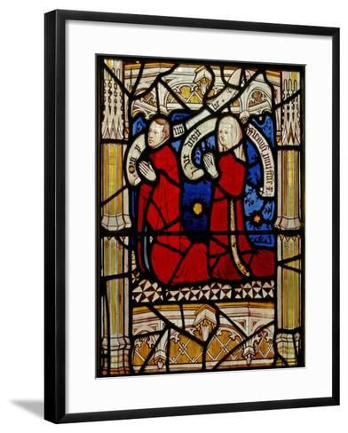 Window N4 Depicting Donors--Framed Art Print