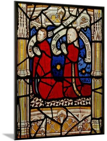 Window N4 Depicting Donors--Mounted Giclee Print