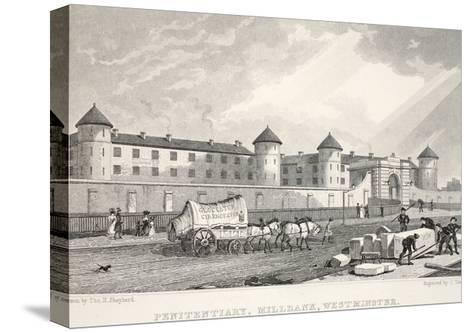 Penitentiary, Millbank, Westminster, from 'London and it's Environs in the Nineteenth Century'-Thomas Hosmer Shepherd-Stretched Canvas Print