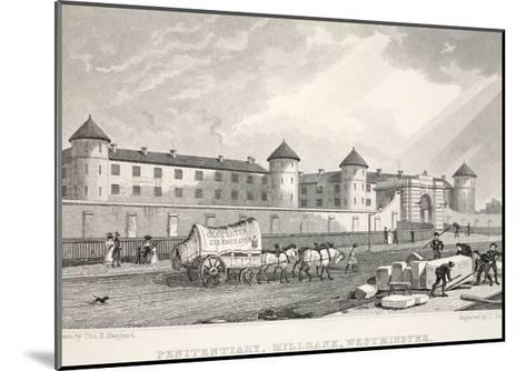 Penitentiary, Millbank, Westminster, from 'London and it's Environs in the Nineteenth Century'-Thomas Hosmer Shepherd-Mounted Giclee Print