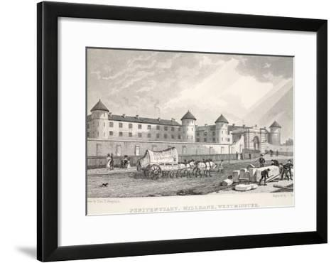 Penitentiary, Millbank, Westminster, from 'London and it's Environs in the Nineteenth Century'-Thomas Hosmer Shepherd-Framed Art Print