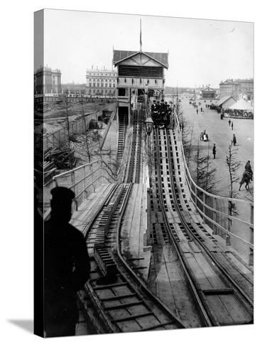 A Switchback Ride, St Petersburg, Early C20th--Stretched Canvas Print