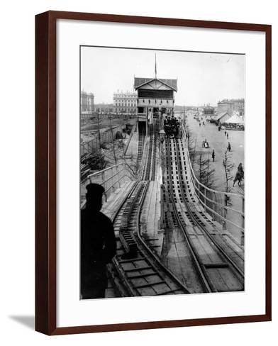 A Switchback Ride, St Petersburg, Early C20th--Framed Art Print