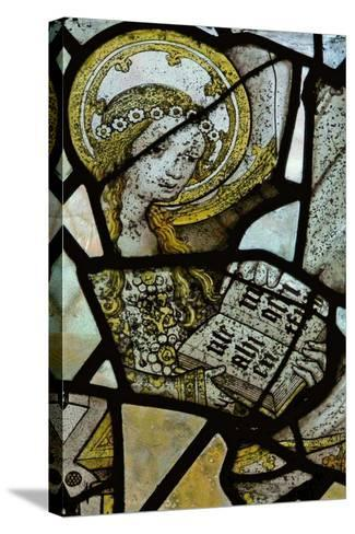 Window Depicting St Anne Teaching the Virgin to Read - Detail of the Virgin Mary--Stretched Canvas Print