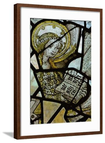 Window Depicting St Anne Teaching the Virgin to Read - Detail of the Virgin Mary--Framed Art Print