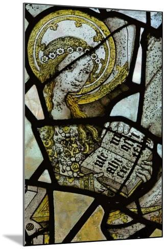 Window Depicting St Anne Teaching the Virgin to Read - Detail of the Virgin Mary--Mounted Giclee Print