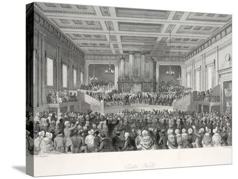 Exeter Hall-Thomas Hosmer Shepherd-Stretched Canvas Print