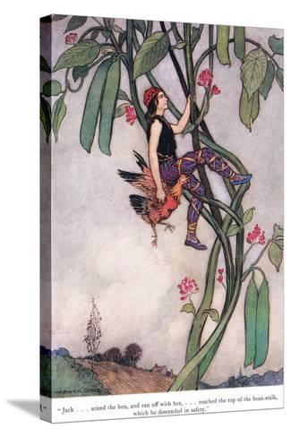 Jack Seized the Hen-Warwick Goble-Stretched Canvas Print