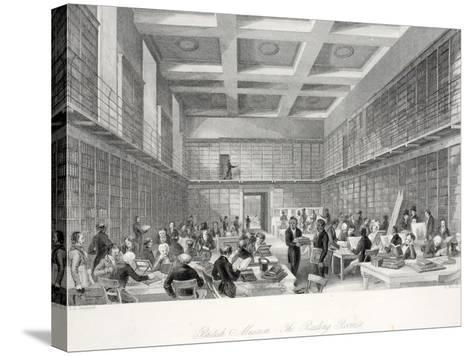 The Reading Room and Library at the British Museum-Thomas Hosmer Shepherd-Stretched Canvas Print