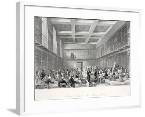 The Reading Room and Library at the British Museum-Thomas Hosmer Shepherd-Framed Art Print