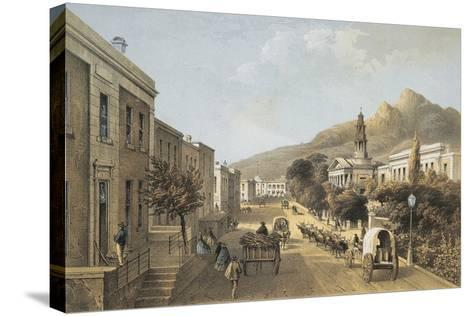 South Africa, Cape Town, Wale Street and St George's Cathedral-Thomas William Bowler-Stretched Canvas Print