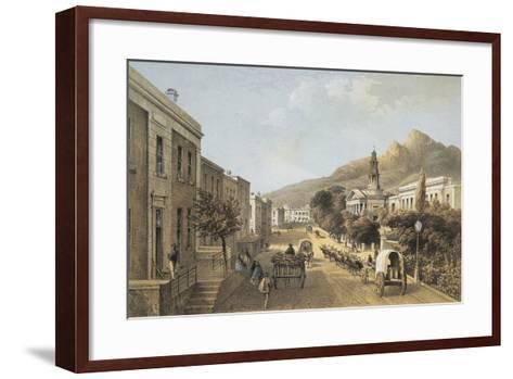 South Africa, Cape Town, Wale Street and St George's Cathedral-Thomas William Bowler-Framed Art Print