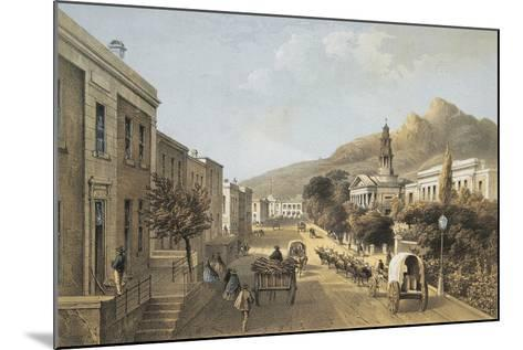 South Africa, Cape Town, Wale Street and St George's Cathedral-Thomas William Bowler-Mounted Giclee Print