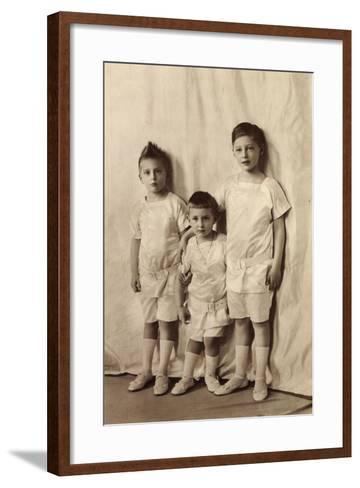 Drei Ältesten Söhne Des Kronprinzenpaares, Liersch--Framed Art Print