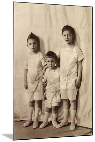 Drei Ältesten Söhne Des Kronprinzenpaares, Liersch--Mounted Giclee Print