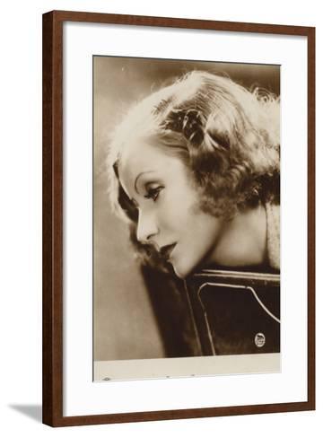 Greta Garbo--Framed Art Print