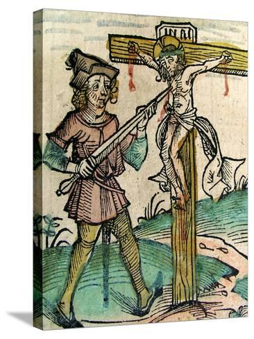 Christ Recrucified, Published in the Nuremberg Chronicle, 1493--Stretched Canvas Print
