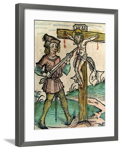 Christ Recrucified, Published in the Nuremberg Chronicle, 1493--Framed Art Print
