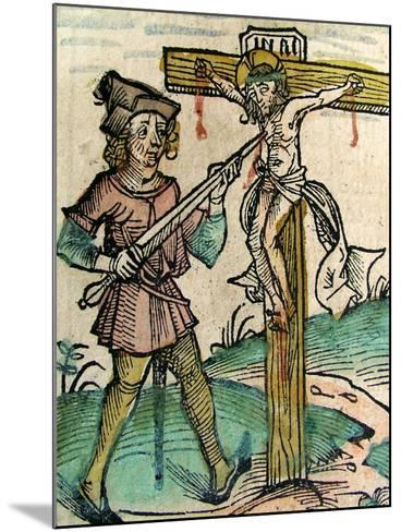 Christ Recrucified, Published in the Nuremberg Chronicle, 1493--Mounted Giclee Print