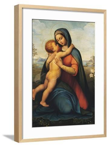Madonna and Child or Madonna Del Giglio--Framed Art Print