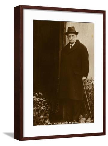 Sir J M Barrie--Framed Art Print