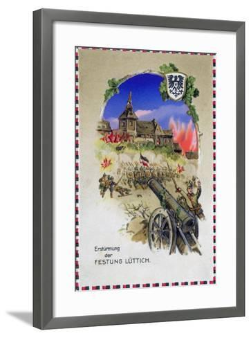 """""""Storming the Fortress of Liege"""", 1914--Framed Art Print"""