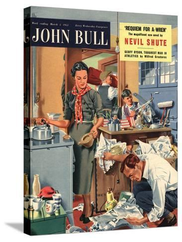 Front Cover of 'John Bull', March 1955--Stretched Canvas Print