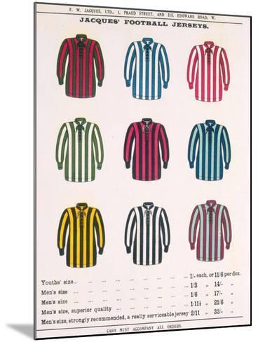 Advertisement for Jacques' Football Jerseys, from 'Boy's Own Paper'--Mounted Giclee Print