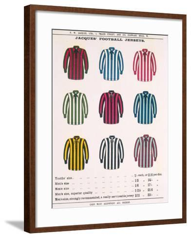 Advertisement for Jacques' Football Jerseys, from 'Boy's Own Paper'--Framed Art Print