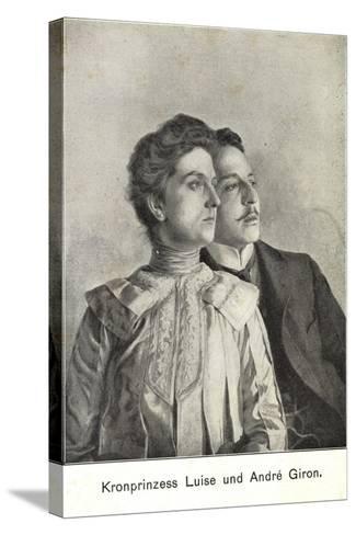 Künstler Kronprinzessin Luise Und Andre Giron--Stretched Canvas Print
