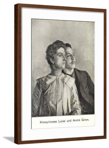 Künstler Kronprinzessin Luise Und Andre Giron--Framed Art Print